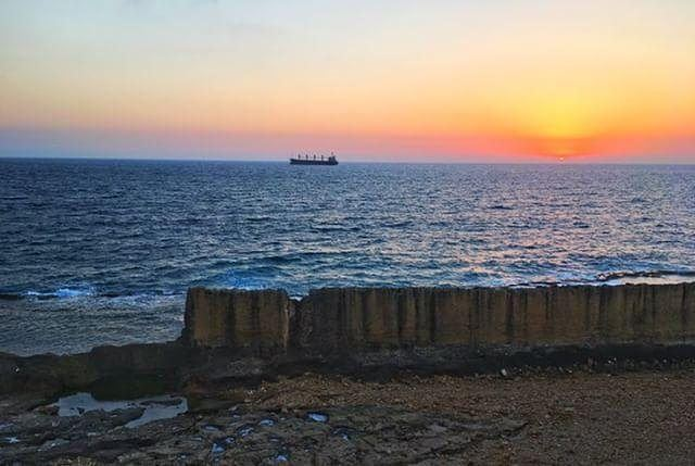 Batroun Phonician wall sunset batrounviews batrountraders mybatroun ...