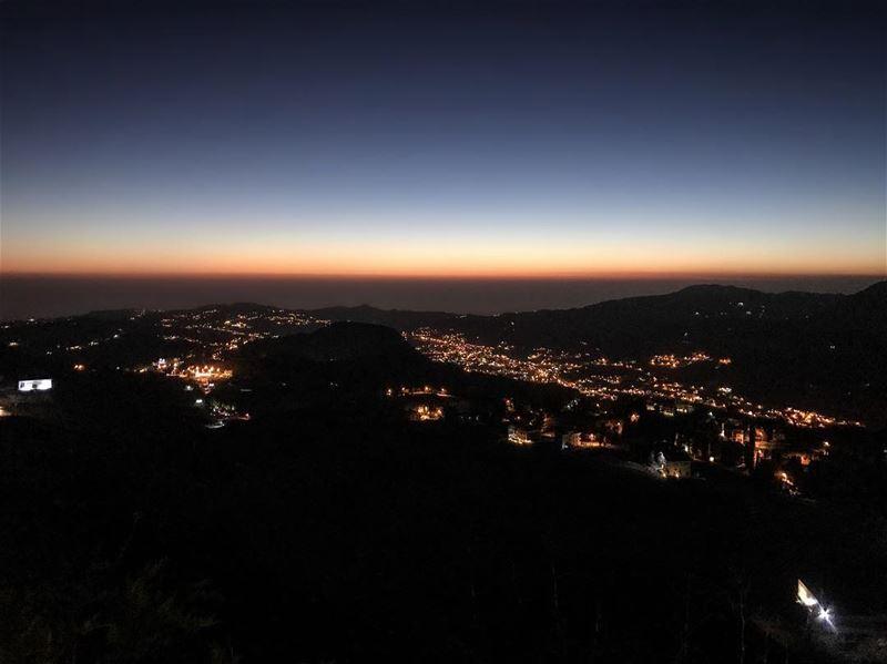 Sunset Lebanon Sky Landscape Iphone7Photo ... (ODIN Mzaar Kfardebian)