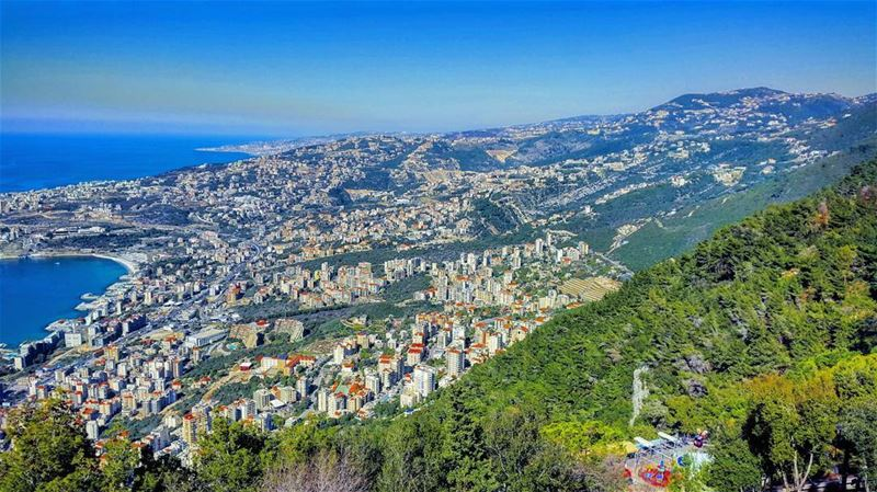 Where mountain meets sea. Mediterranean city love LiveloveLebanon ... (Keserwan District)