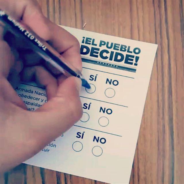 For you Venezuela! VoteSecret 🙊 VenezuelaSiSiSi Lebanon Venezuela ... (Lebanon)