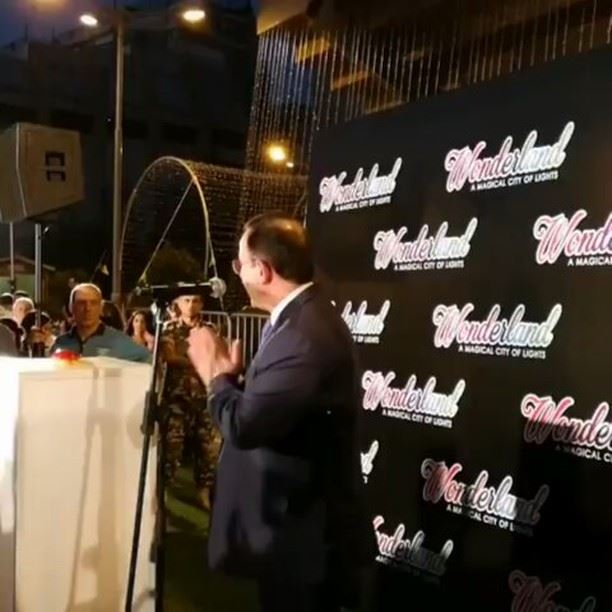 Wonderland 'A Magical City of Lights' opening with the Minister of Tourism... (Fouad Chehab- Jounieh)