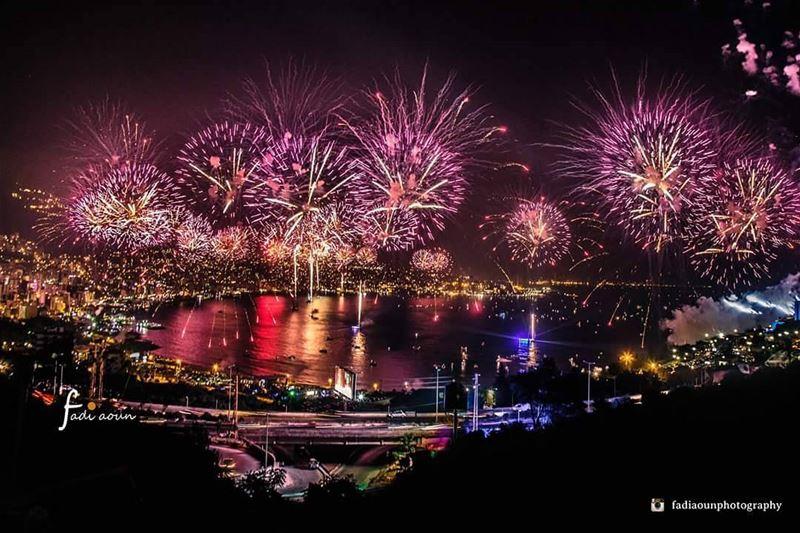 photo fadiaounphotography fireworks jounieh bay sea lebanon ...
