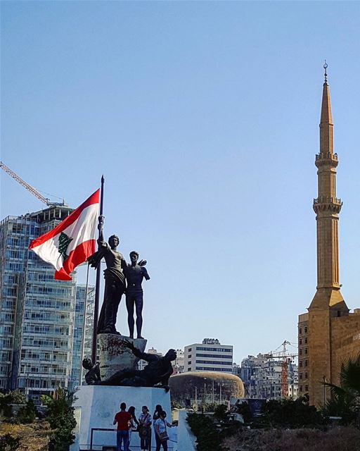 We shouldn't wait for an occasion to raise our national flag high... 🇱🇧 ... (Martyrs' Square, Beirut)