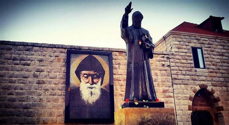 يا شربل صلي عنا ❤ saint charbel lebanon holy day holyday love spiritual... (Mazar Saint Charbel-Annaya)