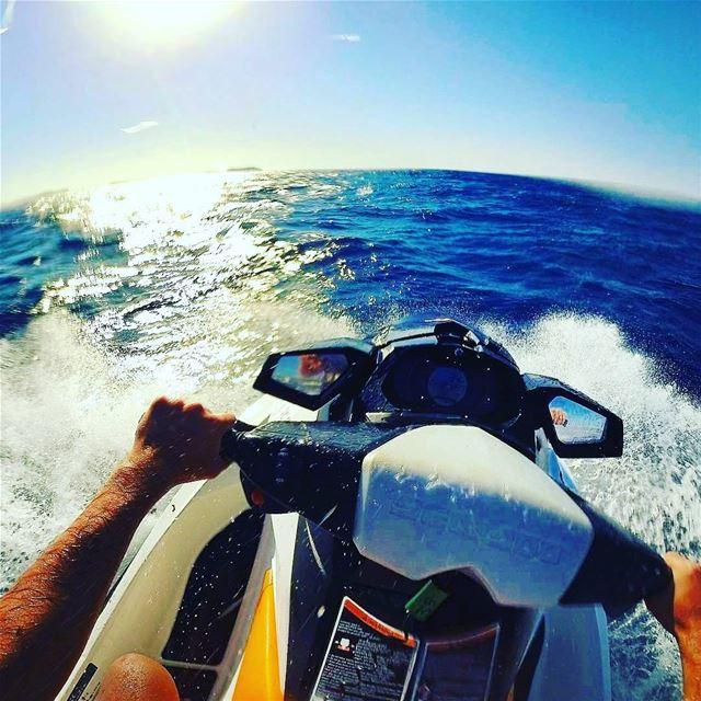 بترحلك مشوار ؟ 😌😇 lebanon jetski water sea blue gopro ... (صور جنوب لبنان)