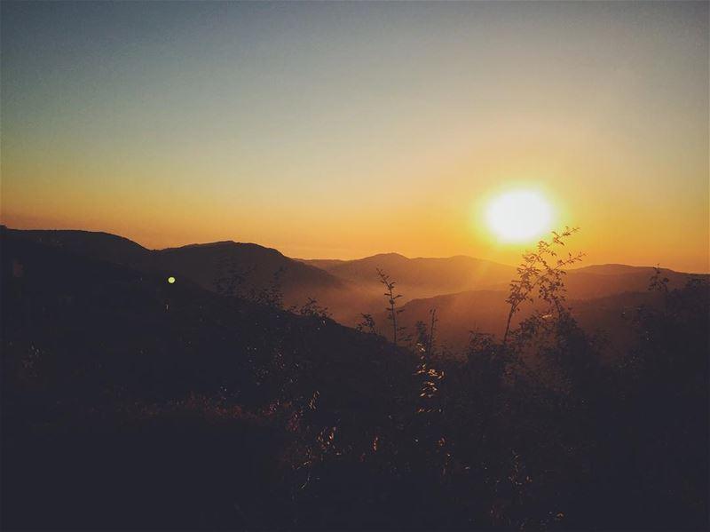 """""""The sun goes down, the sun goes up back again"""" livelovewarhanieh ... (Al Warhaniyah, Mont-Liban, Lebanon)"""