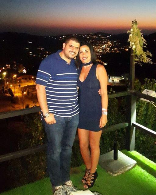 My cousin and I 👦👧 nightout rikky faraya lebanon family cousins ... (Rikky'z)