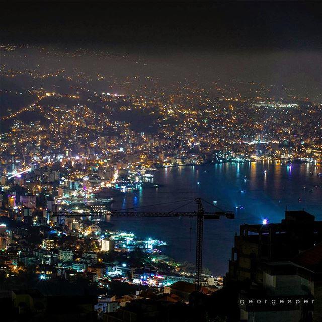 Lights of a city. Jounieh, Lebanon 🇱🇧..... proudlylebanese ... (Jounieh Libanon)
