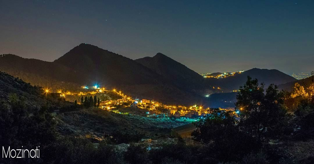 lebanese ptk_lebanon nights nightshot nightlife village mountains... (Kfarhouna - Jezzine)