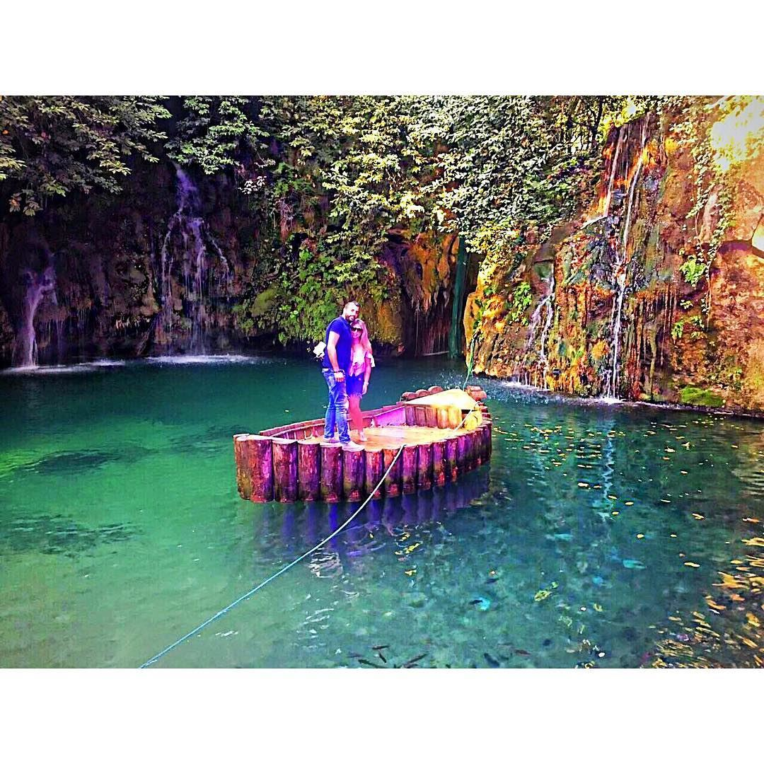 Escaping the ordinary🌍✨🛶 baaklinewaterfall ... (شلالات الزرقاء -بعقلين)