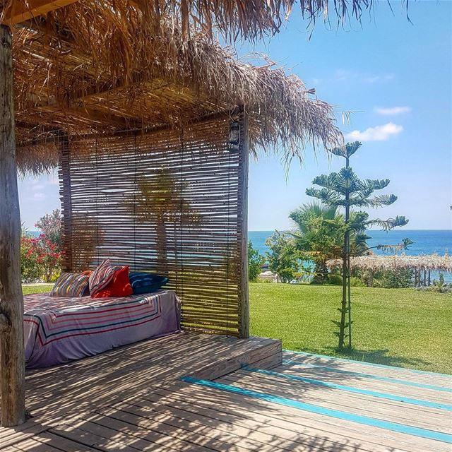 Bed By the Sea.. lebanon beach summer sun sea nature liban ...