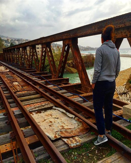 Follow the rail 🚂 train railroad lebanesebucketlisters bucketlist ... (Nahr Ibrahim, Mont-Liban, Lebanon)