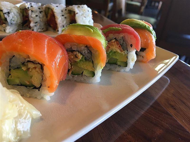 Sushi Rainbow 🌈 @pfchangslebanon . . sushi food eat yummy nomnom foodie... (Beirut, Lebanon)