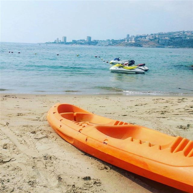 kayaking jetski beach LamedinaResort jounieh lebanon ilovelebanon ... (Lamedina Hotel, Beach Club & Resort)