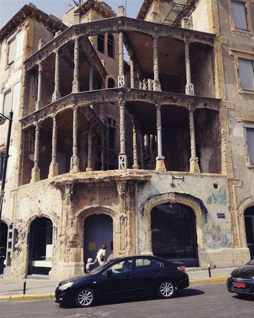 War memories 🏚️ beirut lebanon achrafieh hamra architecture ... (Hamra street , Beirut - شارع الحمرا ، بيروت)