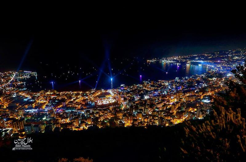 General view of the beautiful coastal town of Jounieh, Lebanon, Saturday,...