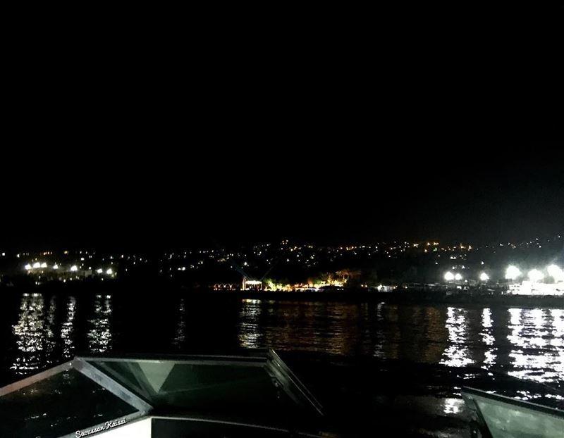 night lights sea sailing ...