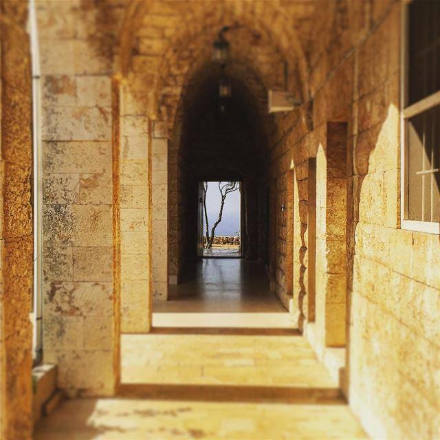 whatsbehindthedoor traditional vernacular architecture stone arcades... (Saydet El Nourieh)