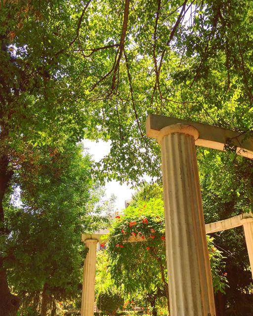 eden gardens heaven landscape columns publicpark freshair ... (Zahlé, Lebanon)