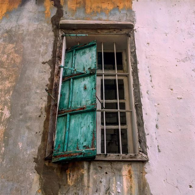 💭🍃 think outside the window.............. window abandoned ... (Beirut, Lebanon)