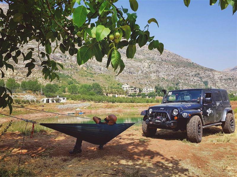 3D swing 😎 roadtrip hammock adventure lebanon ... (Akoura, Mont-Liban, Lebanon)