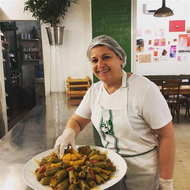 Today's Bekaa day at Tawlet Beirut... our cook Nada Saber came from...
