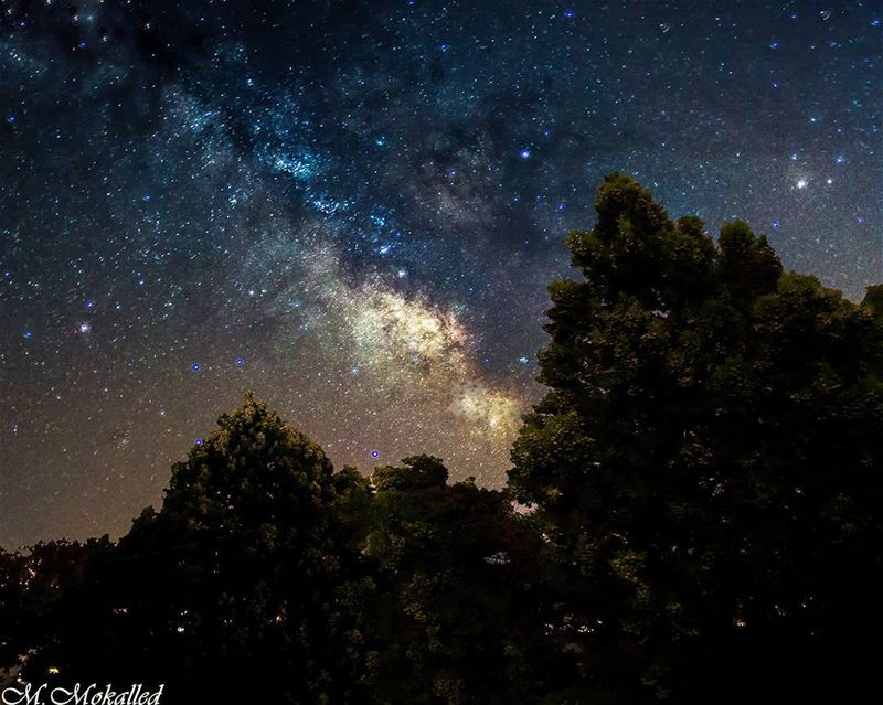 Another Milkyway Pic is here 😍, 5 shots stacked in photoshop , each 15sec... (Jarmaq, Al Janub, Lebanon)