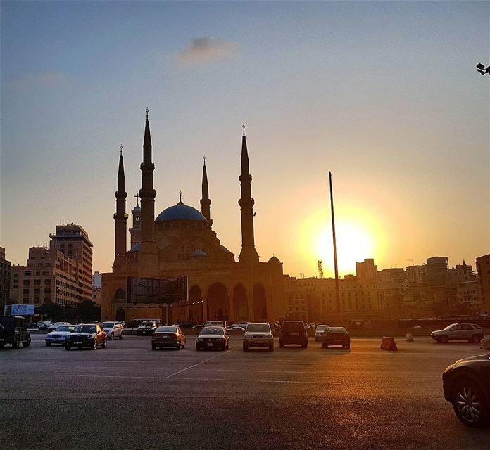 Sunset❤❤❤ beirut sunset mosque downtownbeirut collectingmoments ...