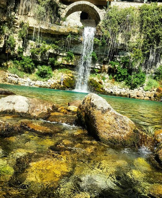 waterfall cave nature mountain lebanon livelovelebanon coldwater ...