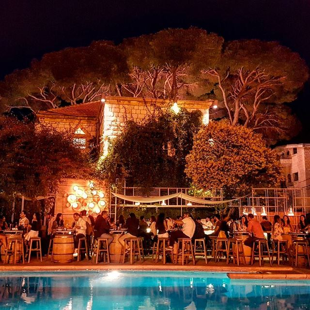 Nothing as beautiful as a fresh summer night under the tall pine trees in... (Printania Palace Hotel)