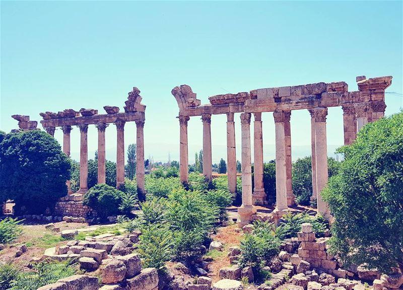 Lost and found. 🏛 Morning livelovebaalbeck ... (Baalbek , Roman Temple , Lebanon)