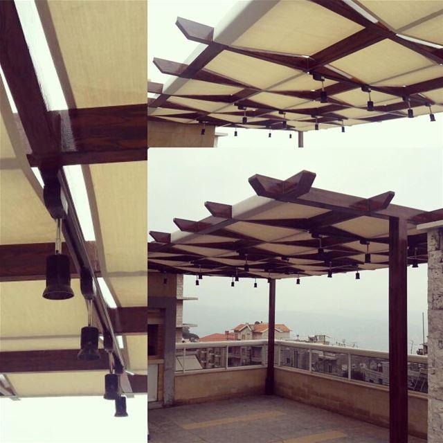When Steel do look like Wood .. with Lighting and Fabric!... (Broummâna, Mont-Liban, Lebanon)