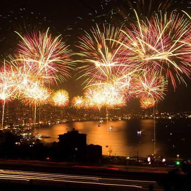 Jounieh International Festival 2017 fireworks fireworks ...