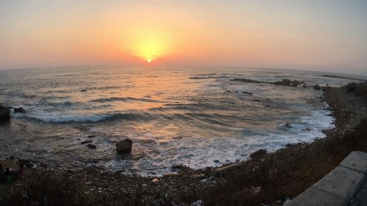 lebanon perfectsunset livelovetyre tyr lovetyr صور holiday sunset leb... (Tyre, Lebanon)