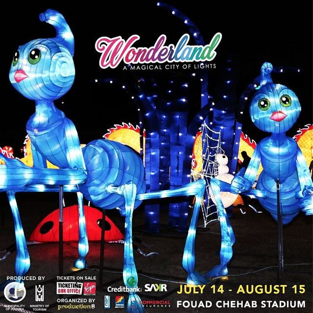 "Want to see 8 meter gigantic ants? Visit WONDERLAND ""A Magical City of... (Fouad Chehab- Jounieh)"