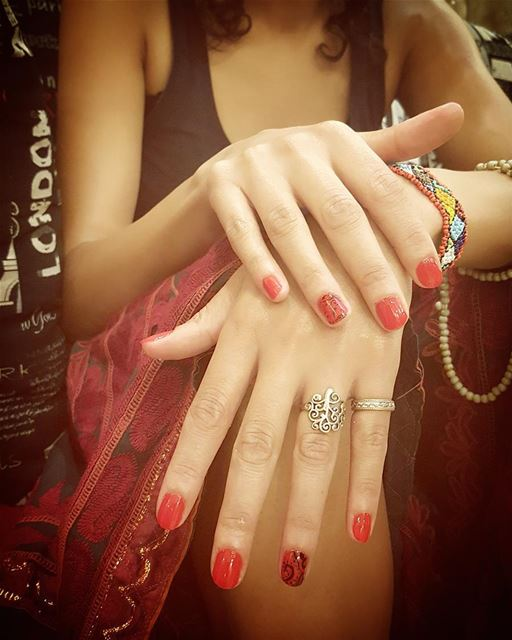 Red in the air ❤  nailpolish  summer  makeupwag  henna  women  ... (MUREX Beauty Therapy)