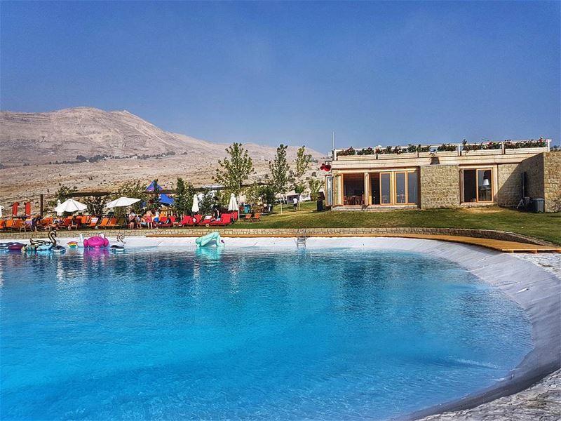 Sometimes you stumble on beauty like this mountain resort pool food ... (Le Plateau de Bakish)