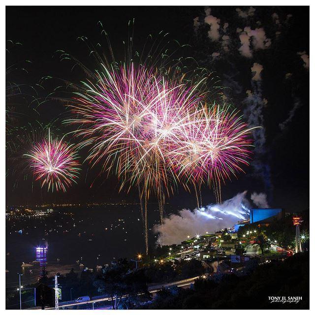 jounieh lebanon jouniehfestival jouniehbay fireworks festival ... (Jounieh International Festival)