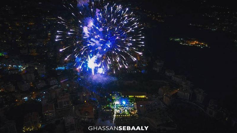 Every firework begins with one spark fireworks lebanon drone dji @djigl (Jounieh, Liban)