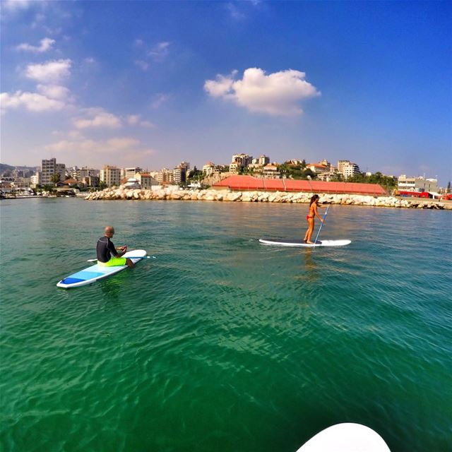 🐠🐙🐢... sup paddle sun fun friends happy sport sports ... (Surf Shack Lebanon)