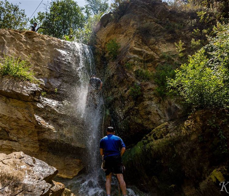 Canyoning: is travelling in canyons using a variety of techniques that may... (Hammana)