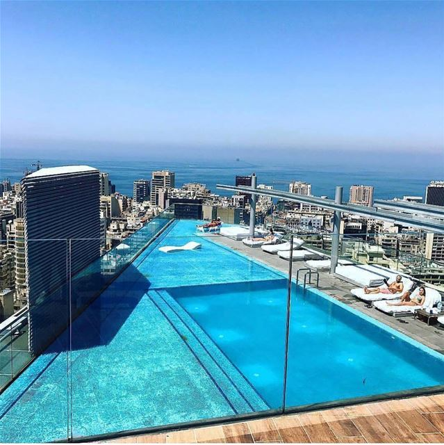 Take the journey to enjoy this view💙💙 letstalkaboutlebanon ... (Staybridge Suites Beirut)