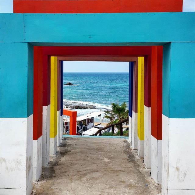 Colorful Doors ElevenBay ElevenBayBatroun Batroun Sea Lebanon... (Eleven_Bay)