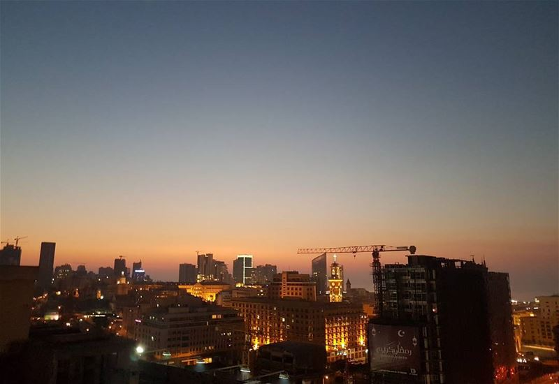 nofilter needed for that  sunset over   beirut  lebanon  monot  skyline ... (O Monot Luxury Boutique Hotel)