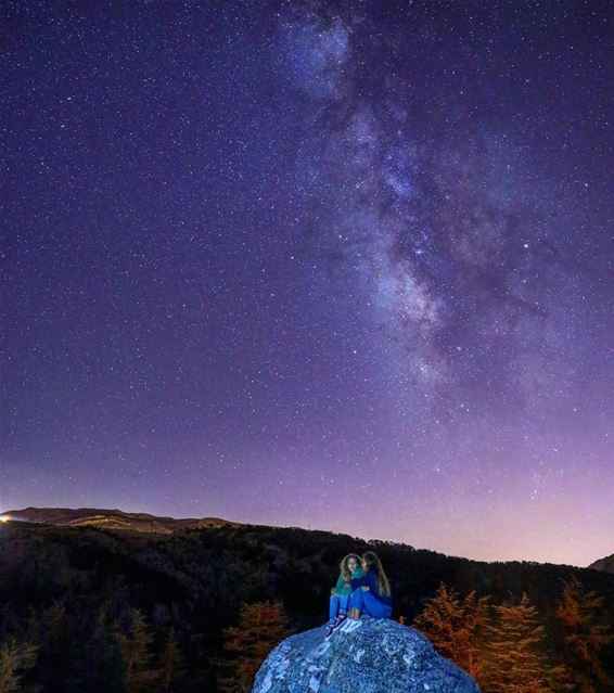 Deep conversation under the Milky Way 😎🌌 (Tannourine Cedars Nature Reserve)