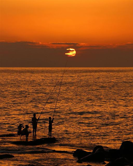 🌅.... sunset sunsetporn sunsetpics landscape landscapephotography... (Tyre, Lebanon)
