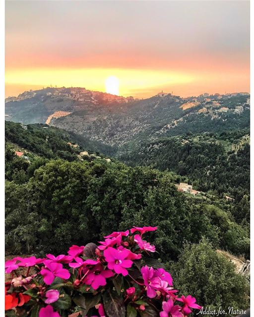 Sunsets are proof that, no matter what happens, everyday can end... (El Kfour, Mont-Liban, Lebanon)