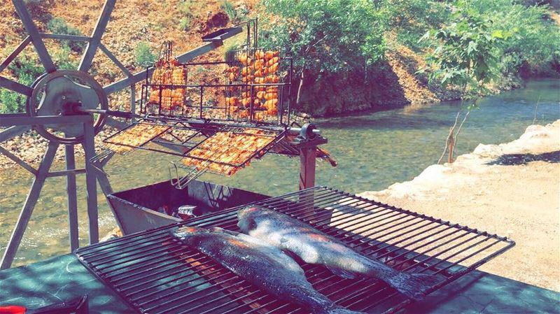 foodtime summer fish river استراحة_ابو_جاد lebanesefood ... (استراحة ابو جاد)