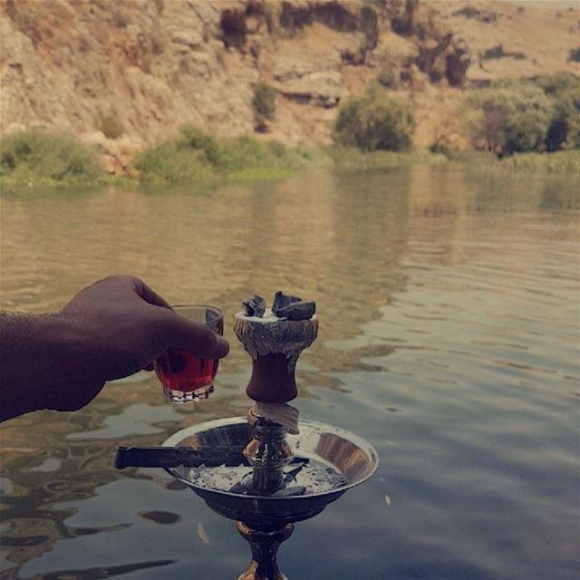 sumer☀️ shishatime morning fun river ... (استراحة ابو جاد)