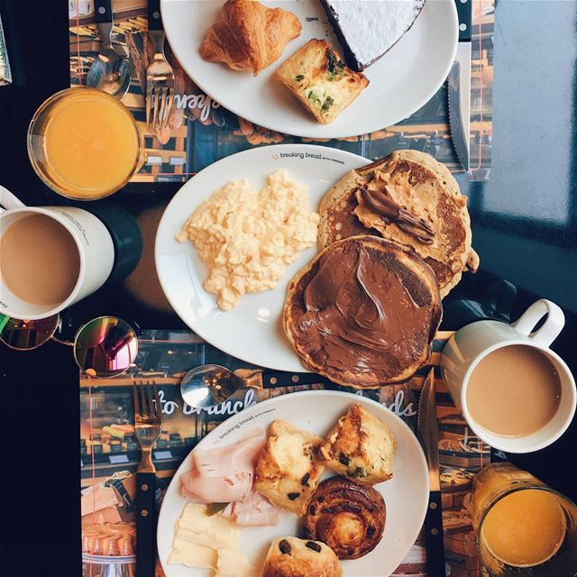 Brunch for two, with you🍳🥞☕️... brunch breakfast ... (Bar Tartine Dbayé)